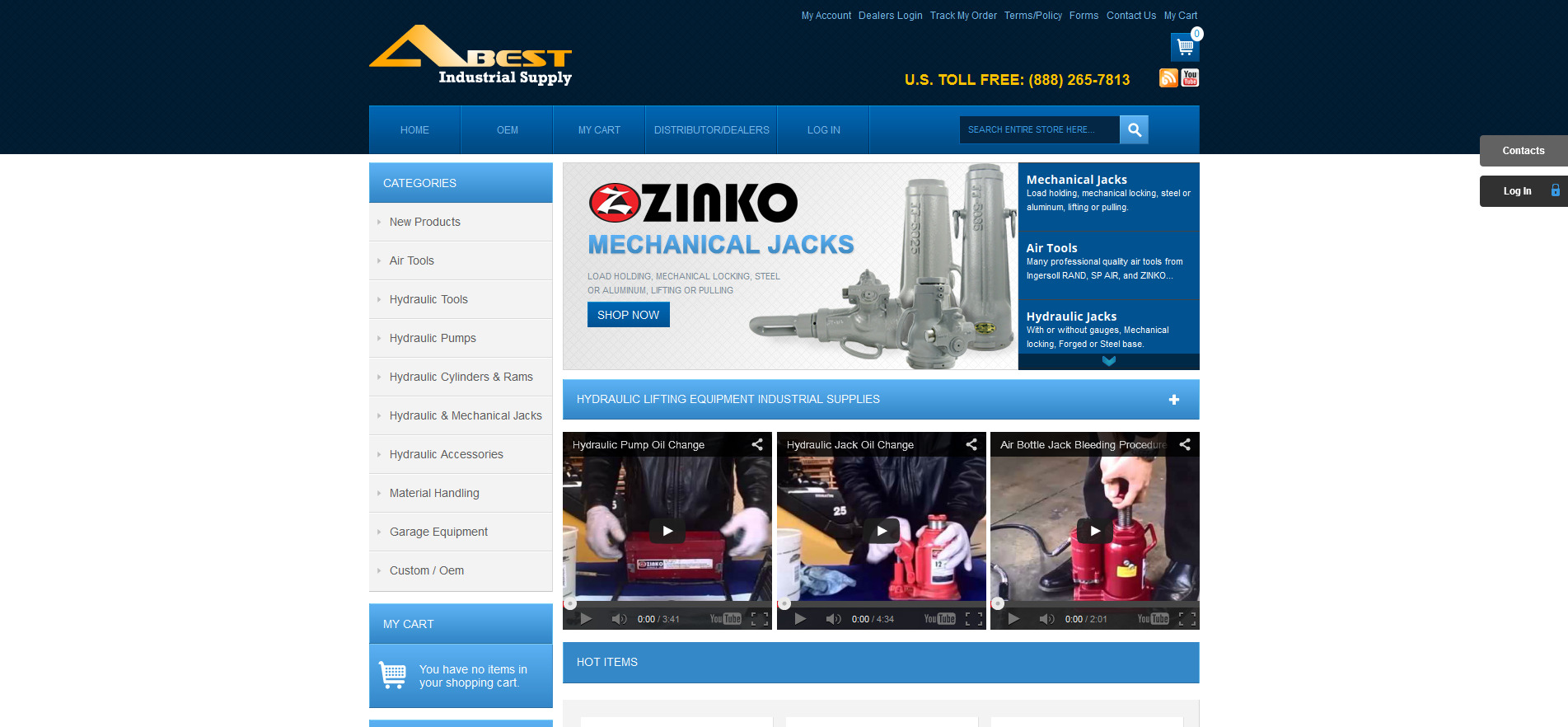 A Best Industrial Supply's New Website